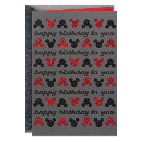 Disney Mickey Mouse Smile From Ear to Ear Birthday Card