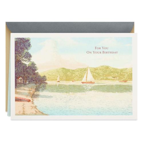 Illustrated Sailboats Birthday Card