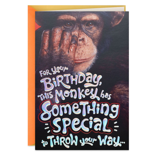 Monkey Around Pop Up Birthday Card
