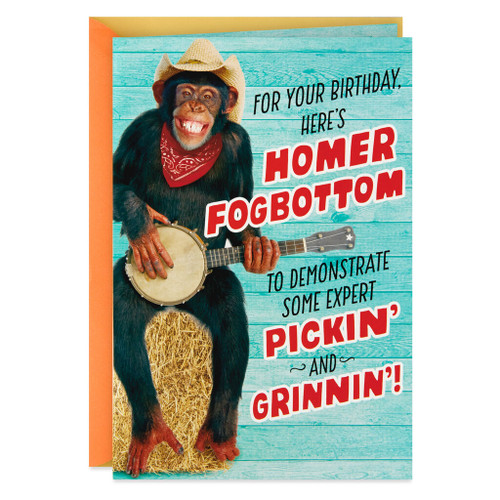 Expert Pickin' and Grinnin' Birthday Card