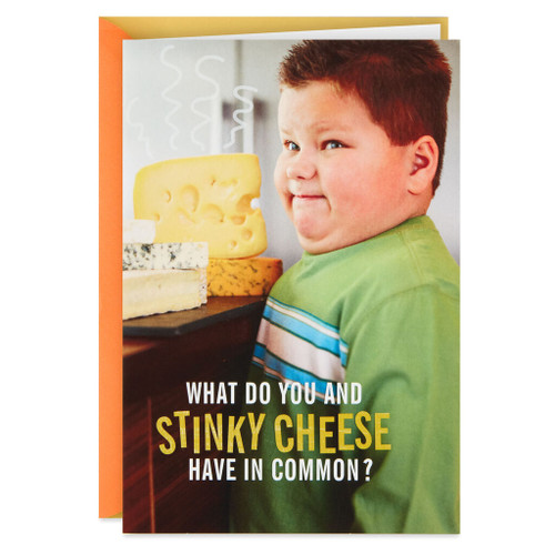 Stinky Cheese Funny Birthday Card