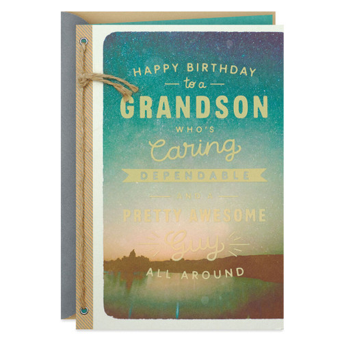 All-Around Awesome Birthday Card for Grandson