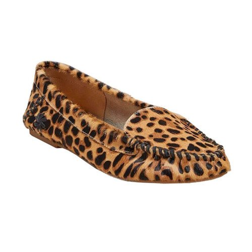 Millie Haircalf Moccasin Leopard