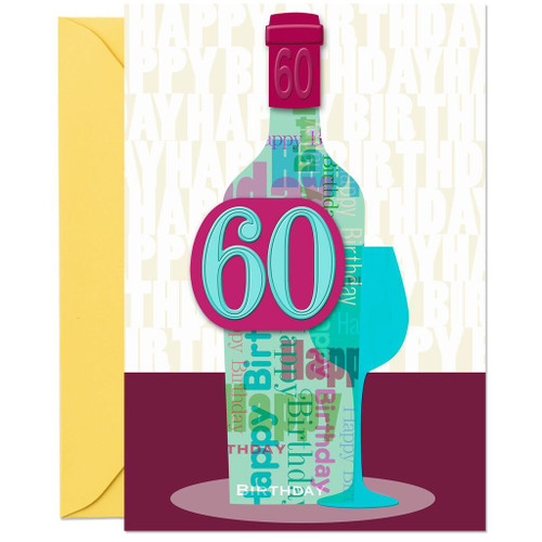 A Vintage Year Wine Bottle 60th Birthday Card