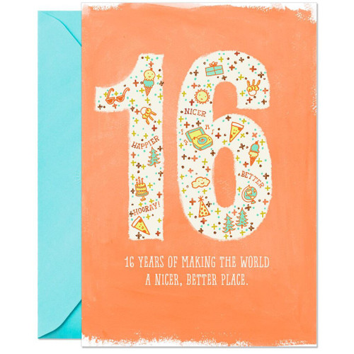 A Big Reason to Celebrate 16th Birthday Card