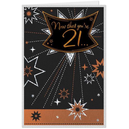 Start Tomorrow 21st Birthday Card