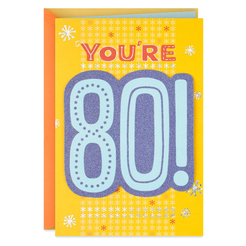Tributes and Stories 80th Birthday Card