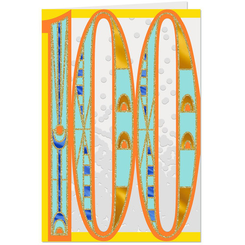 Art Deco 100th Birthday Card