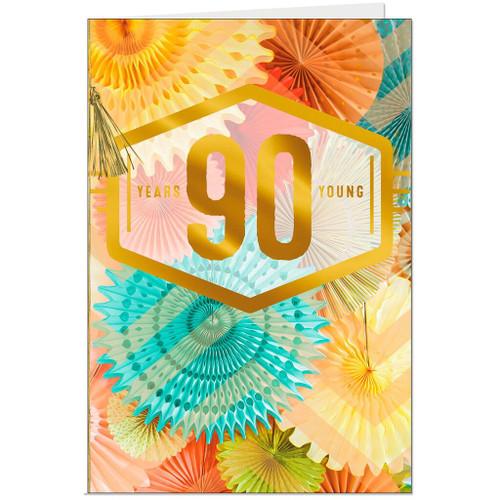 Pretty Pinwheels 90th Birthday Card