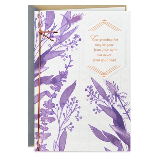 Purple Wildflowers for Grandma Sympathy Card