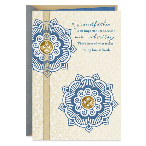 A Cherished Heritage Sympathy Card for Loss of Grandfather