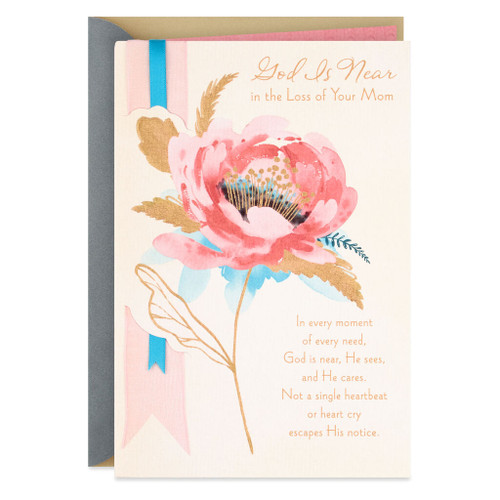 God Is Near Religious Sympathy Card for Mother