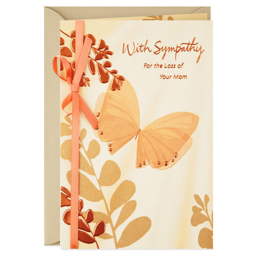 Comforted by Memories Religious Sympathy Card for Loss of Mother