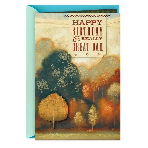 Fall Landscape Birthday Card for Dad