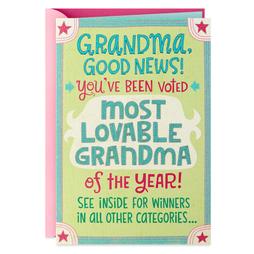 Most Lovable Grandma of the Year Birthday Card