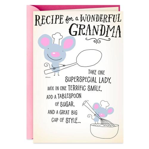 Recipe for a Wonderful Grandma Birthday Card