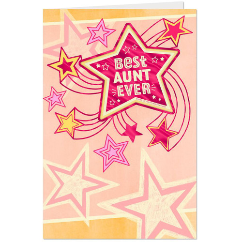 Coolest, Greatest, Very Best Aunt Birthday Card With Magnet