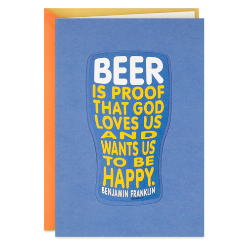 Beer Mug Birthday Card With Magnet
