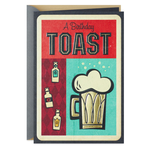 Beer Mug Toast Birthday Card