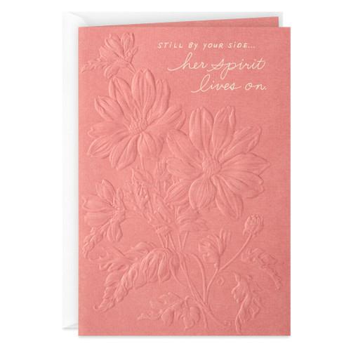 Her Spirit Lives On Sympathy Card