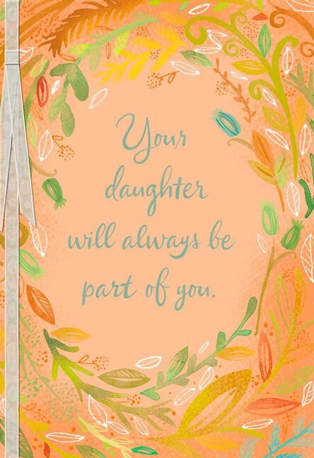 Ring of Leaves Loss of Daughter Sympathy Card