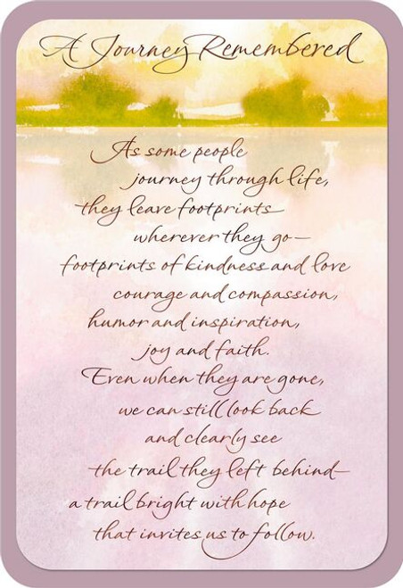 A Journey Remembered Religious Sympathy Card
