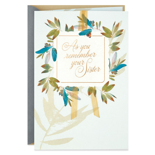 Her Joy and Essence Are Forever Sympathy Card for Loss of Sister
