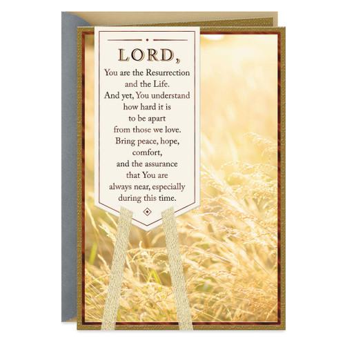 A Prayer for Comfort Religious Sympathy Card