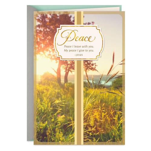 Beautiful Sunrise Religious Sympathy Card