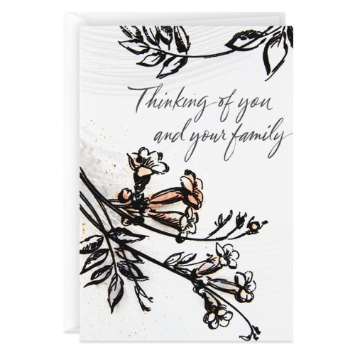 Black Velvet Flowers Sympathy Card