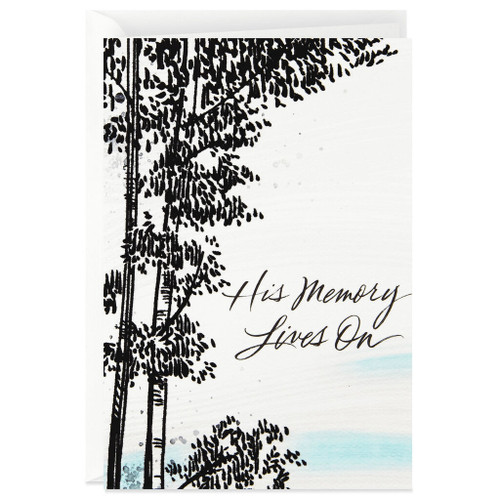 Winter Trees Sympathy Card for Him