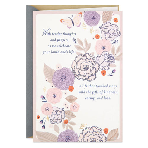 Asking God to Hold You Close Religious Sympathy Card