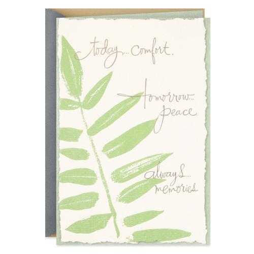 Comfort, Peace and Memories Sympathy Card