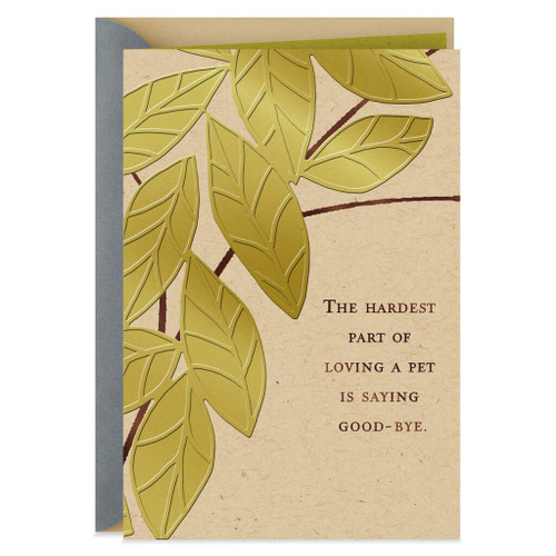 Saying Good-Bye Sympathy Card for Loss of Pet