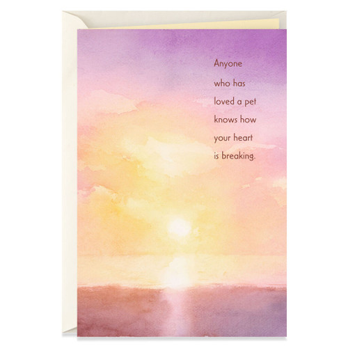Watercolor Sunset Loss of Pet Card