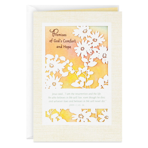 Promises of God's Comfort and Hope Religious Sympathy Card