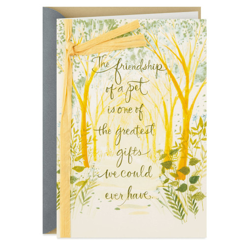 Tree Canopy Loss of Pet Sympathy Card
