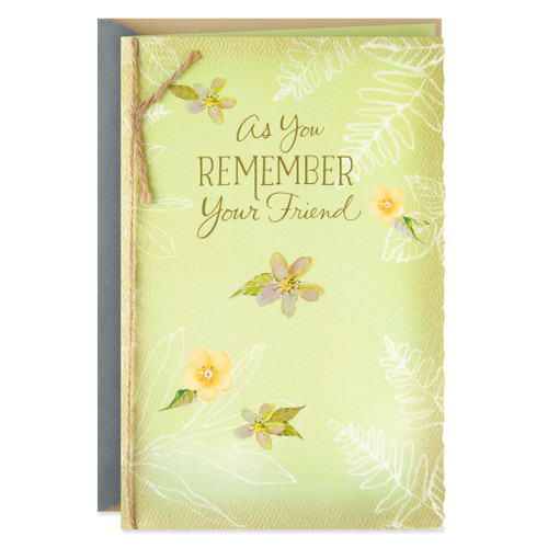 A Trail of Beautiful Memories Sympathy Card for Loss of Friend