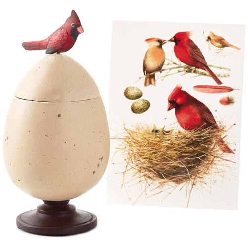 Marjolein Bastin Special Edition Egg and Cardinal Treasure Box