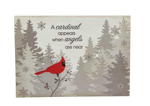 Cardinals from Heaven - Light Up Box Plaque