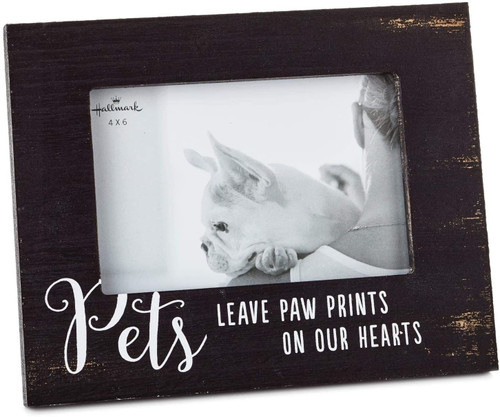 Pets Leave Paw Prints Wood Picture Frame