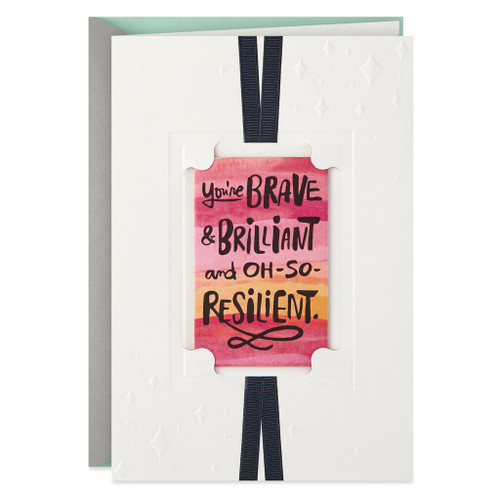 Brave, Brilliant and Resilient Get Well Card with Removable Keepsake