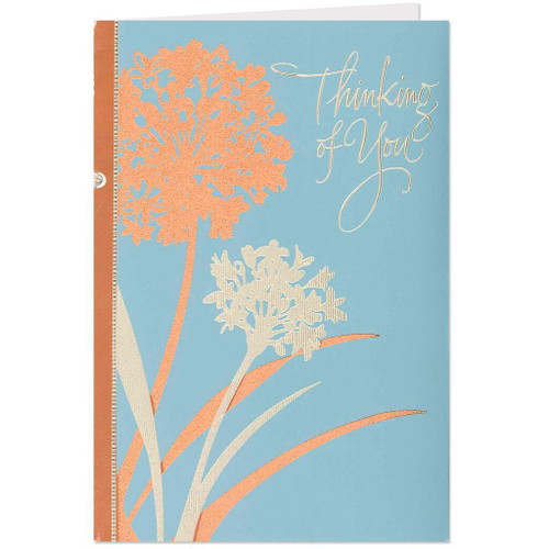 Floral Thinking of You Get Well Card