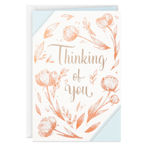 Bronzed Tulips Thinking of You Card