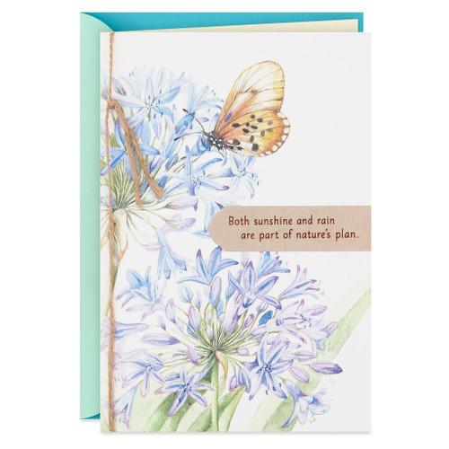 Marjolein Bastin Butterfly on Allium Encouragement Card