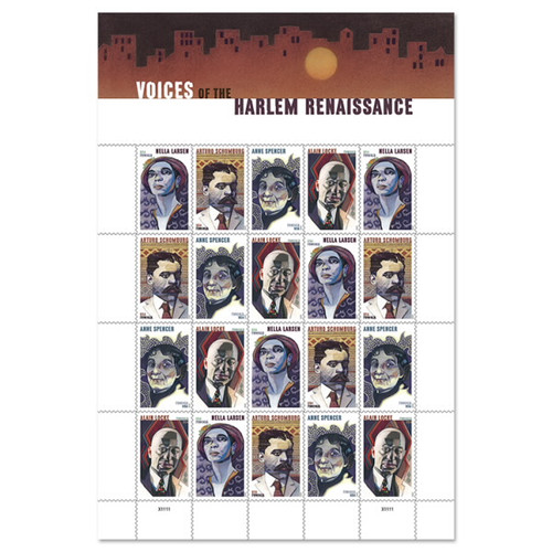 Sheet of First Class Stamps - Voices of the Harlem Renaissance