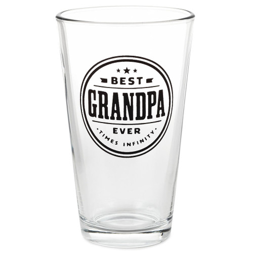 Best Grandpa Times Infinity Pint Glass, 16 oz.