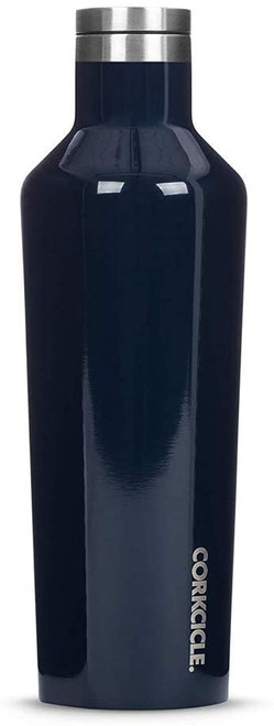 Corkcicle Insulated Bottle, 16 oz Gloss Navy