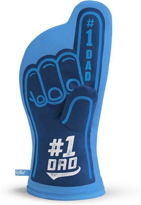 #1 Dad Cotton Oven Mitt, Blue