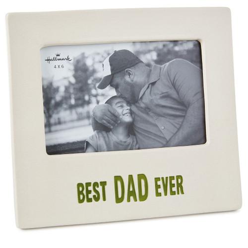 Best Dad Ever Ceramic Picture Frame, 4x6